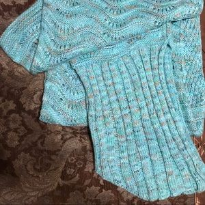 Other - Mermaid Blanket NWOT Aqua Knit